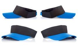 Casquillo negro y azul del tenis Imagen de archivo