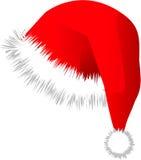 Casquillo rojo de la Navidad del sombrero del santo Fotografía de archivo