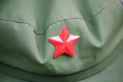 Casquillo rojo del ejército Foto de archivo libre de regalías