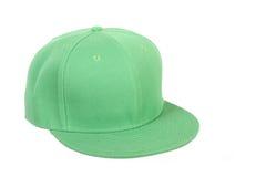 Casquillo verde del rap de hip-hop Imagen de archivo libre de regalías