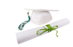 Casquillo y diploma Fotografía de archivo
