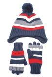 Casquillo y guantes Fotografía de archivo libre de regalías