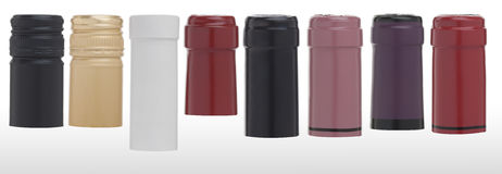Casquillos coloridos del vino Fotografía de archivo libre de regalías