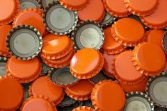 Casquillos de la botella de cerveza foto de archivo