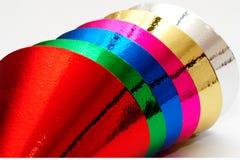 Casquillos de la fiesta de cumpleaños del color Imagen de archivo