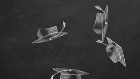 Casquillos de la graduación ilustración del vector