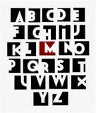 Casquillos del atraco a mano armada de sans serif del vector Fotos de archivo libres de regalías