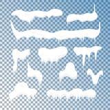 Casquillos fríos de la nieve de Frost fijados Vector Fotos de archivo libres de regalías