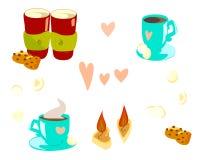 Casquillos para día de San Valentín stock de ilustración