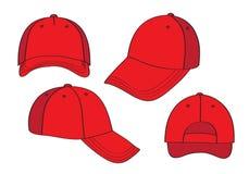 Casquillos rojos en blanco Imágenes de archivo libres de regalías