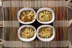 Casquinha de Siri 螃蟹膳食焦干酪开胃菜 库存图片