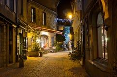 Casrcassonne på natten royaltyfria foton