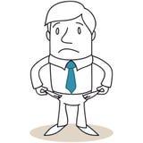 A cassé l'homme d'affaires montrant les poches vides Photo libre de droits