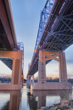 Cass街桥梁 免版税图库摄影