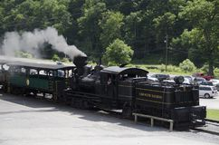 Cass Scenic Excursion Train - 5 Arkivfoton
