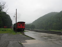 Cass West Virginia Scenic Railway-post royalty-vrije stock foto