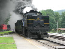 Cass West Virginia Scenic Railway-post royalty-vrije stock fotografie