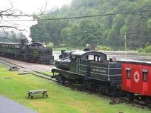 Cass West Virginia Scenic Railway-post royalty-vrije stock foto's