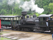 Cass West Virginia Scenic Railway station. Cass West Virginia is the home of the famed Shay locomotives which were used to carry logs down the mountain.  View is Stock Photography