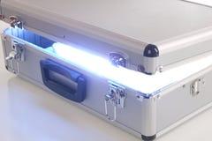Cassa blu di energia Fotografia Stock