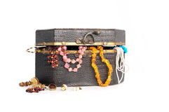 Cassa con jewellry Fotografia Stock Libera da Diritti
