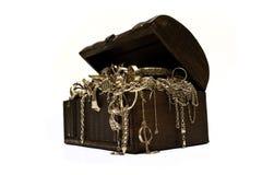 Cassa dei monili dell'oro Immagine Stock Libera da Diritti