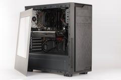 Cassa del computer della torre del Midi con il lato trasparente di acryl Immagine Stock