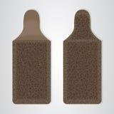 Cassa del cuoio di Brown per il telefono in due modi Fotografia Stock