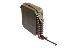 Cassa del richiamo delle munizioni con la catena di munizioni Immagine Stock