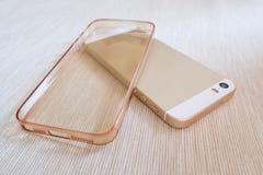 Cassa del silicone per lo smartphone ed il telefono, immagini stock