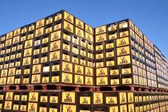 Cassa della birra alla fabbrica di birra di Hertog gennaio in Arcen. immagini stock