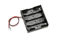 Cassa della cassetta portabatterie di aa Fotografia Stock Libera da Diritti