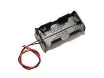 Cassa della cassetta portabatterie di aa Immagini Stock