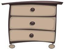 Cassa della mobilia del fumetto dei cassetti domestica illustrazione vettoriale