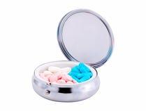 Cassa della pillola Fotografia Stock