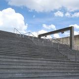 Cassa della scala in su Immagini Stock