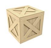 Cassa di legno Fotografia Stock Libera da Diritti