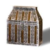 Cassa di legno con rivestimento del metallo Immagini Stock