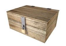 Cassa di legno Locked fotografie stock