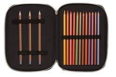 Cassa di matita aperta Fotografie Stock Libere da Diritti
