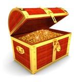 Cassa di tesoro di legno royalty illustrazione gratis