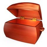 Cassa di tesoro di legno illustrazione di stock