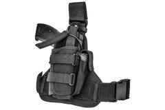 Cassa di trasporto delle armi: cinghia di cartuccia tattica militare per pouc Immagini Stock