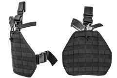 Cassa di trasporto delle armi: cinghia di cartuccia tattica militare per pouc Fotografie Stock