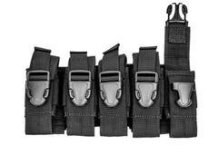 Cassa di trasporto delle armi: il sacchetto tattico militare della cartuccia ha fatto il franco Fotografie Stock