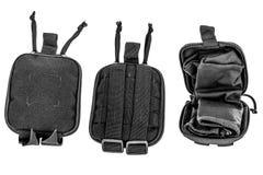Cassa di trasporto delle armi: il sacchetto tattico militare della cartuccia ha fatto il franco Fotografia Stock Libera da Diritti