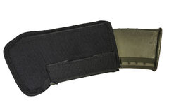 Cassa di trasporto delle armi: il sacchetto tattico militare della cartuccia ha fatto il franco Immagini Stock