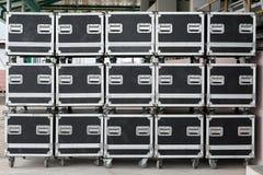 Cassa, legno - materiale, trasporto del trasporto, magazzino di distribuzione, scatola - contenitore Immagini Stock Libere da Diritti