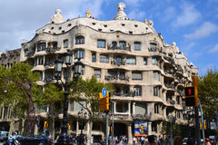 Cassa Mila Gaudi. In Barcelona Spain Royalty Free Stock Images