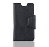 Cassa nera del telefono Fotografia Stock